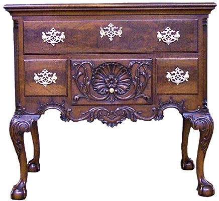 PHILADELPHIA LOWBOY, GARVAN COLLECTION, WALNUT, COLOR DISTRESSED FINISH  (LB151)