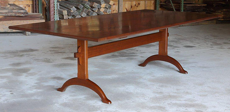 Walnut dining table - Eric Jacobsen Furniture Maker Shaker Trestle Dining
